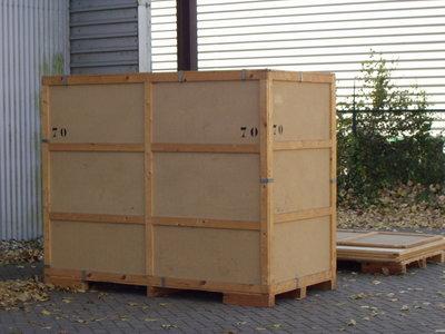Opslag/Bewaarneming inboedel in een kist van 6 m3 (€. 42,- per maand, bij inslag + €. 15,- inslagkosten)